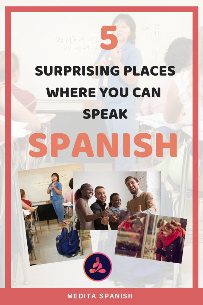 Surprising Places Where You Can Use Spanish. Learn Spanish Only. Why should I learn Spanish. #Spanish #teachSpanish #SpanishOnline